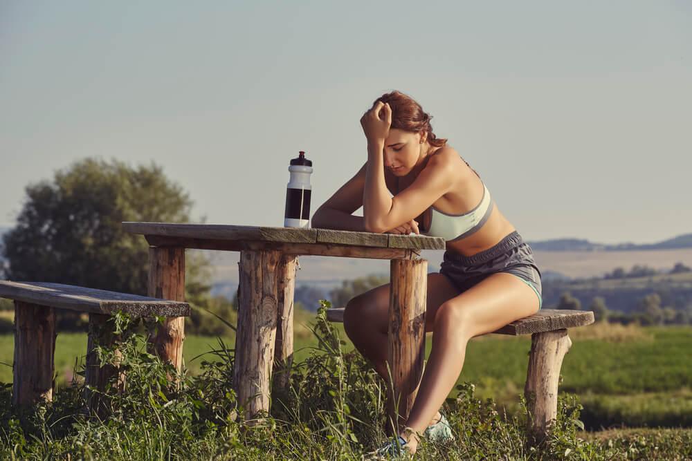 atleta com sintomas de overtraining