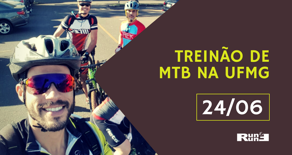 Treinão orientado de Mountain Bike na UFMG