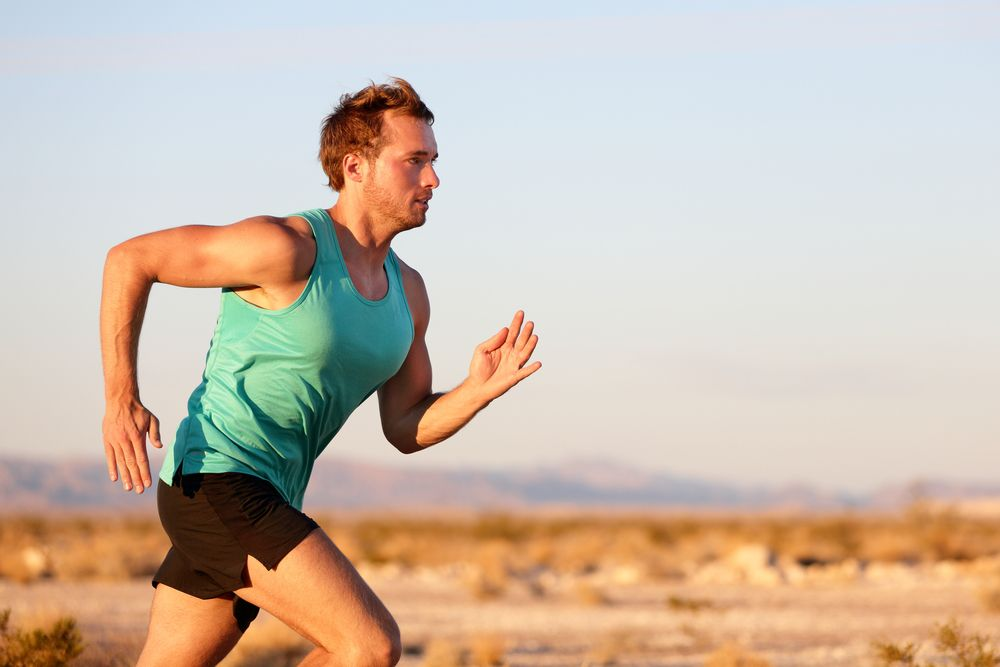 corredor com desempenho na corrida